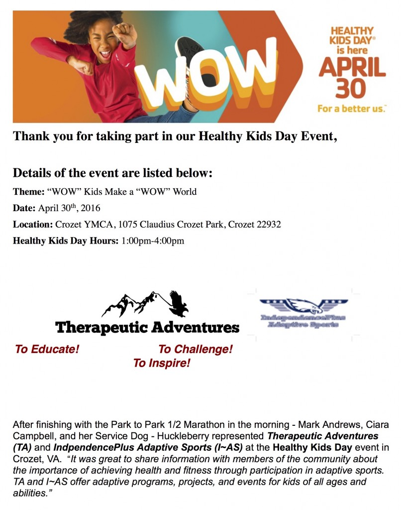Healthy Kids Day Info