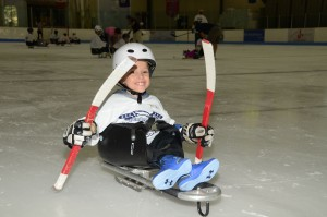 Brian Rehm - Our youngest Sled Hockey Player - Happy to be skating and playing hockey for the first time!