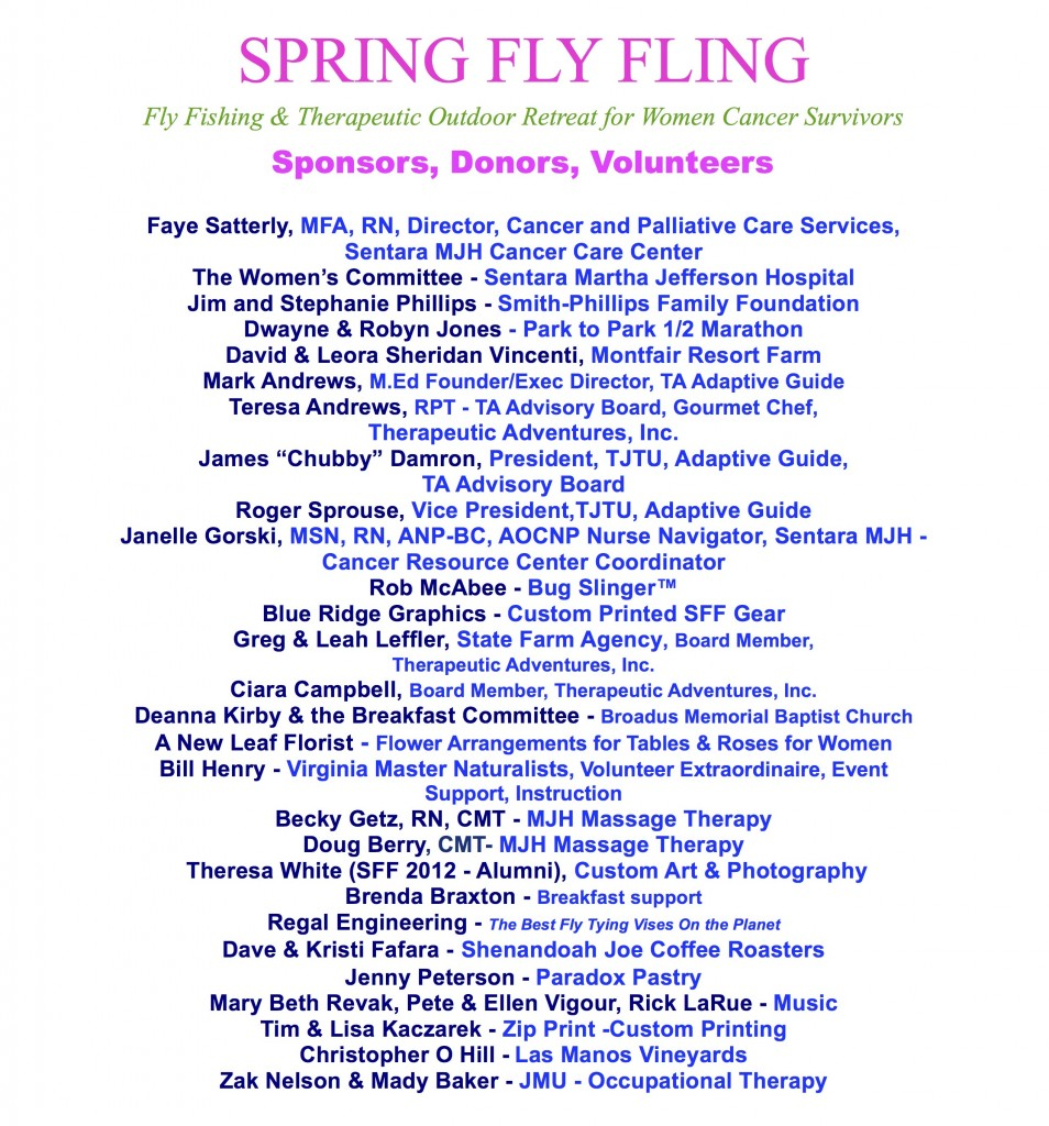 Women's Fly Fishing Retreat- Sponsors & Donors 2017_3