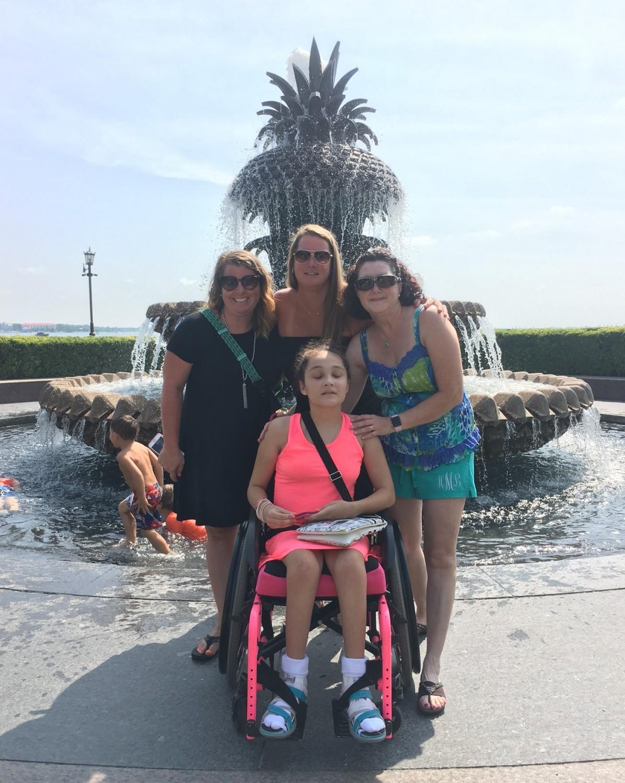 (Back L-R) Amanda, Jen, Helen (Front) Kara ~ Pineapple Fountain, Charleston, SC