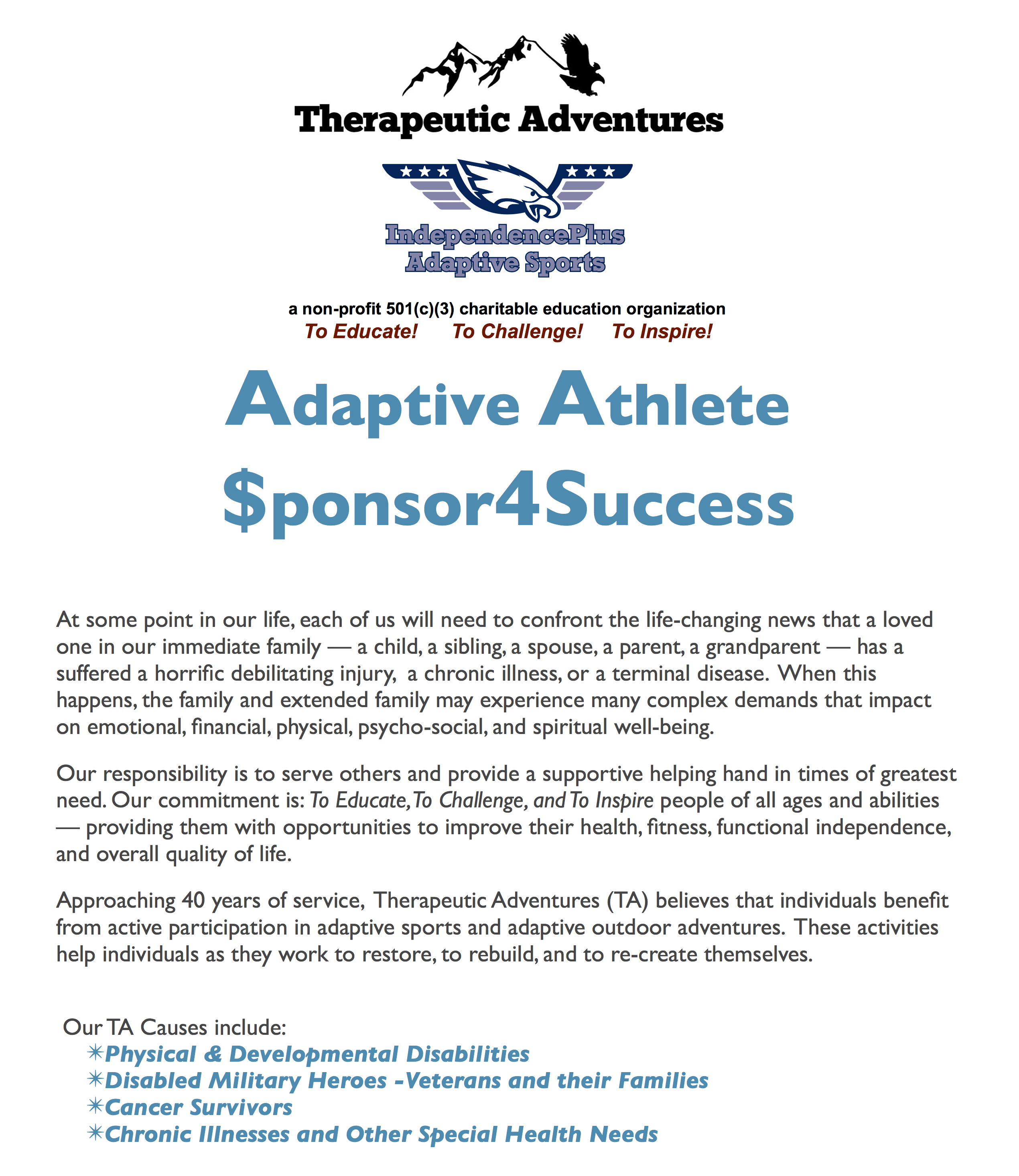 Adaptive Athlete Sponsor4Success 1