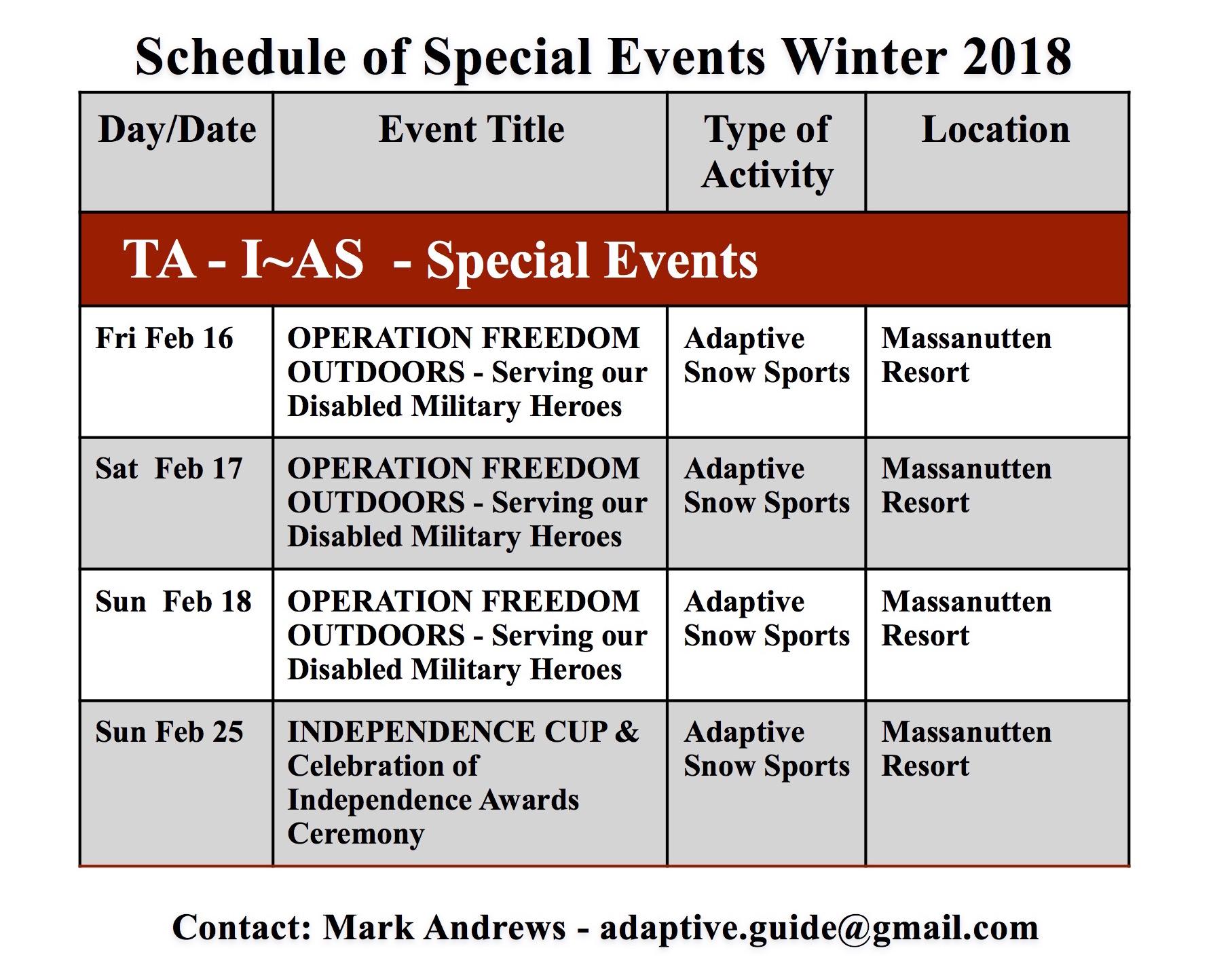 TA Events 2018