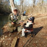 Adaptive Guide:Chubby (L) Fly Fishing w/ Tripp (R)
