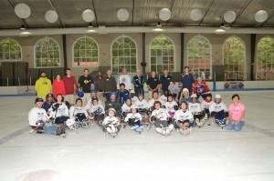 Team Photo - 1st Ever Sled Hockey Clinic. Thanks to our special guests from USA Disabled Hockey - Mike Vaccaro & Laurie Wood, ALL our Adaptive Athletes & Families, our Mentor/Coaches, our Logistics Volunteers, and our Sponsors and Donors.