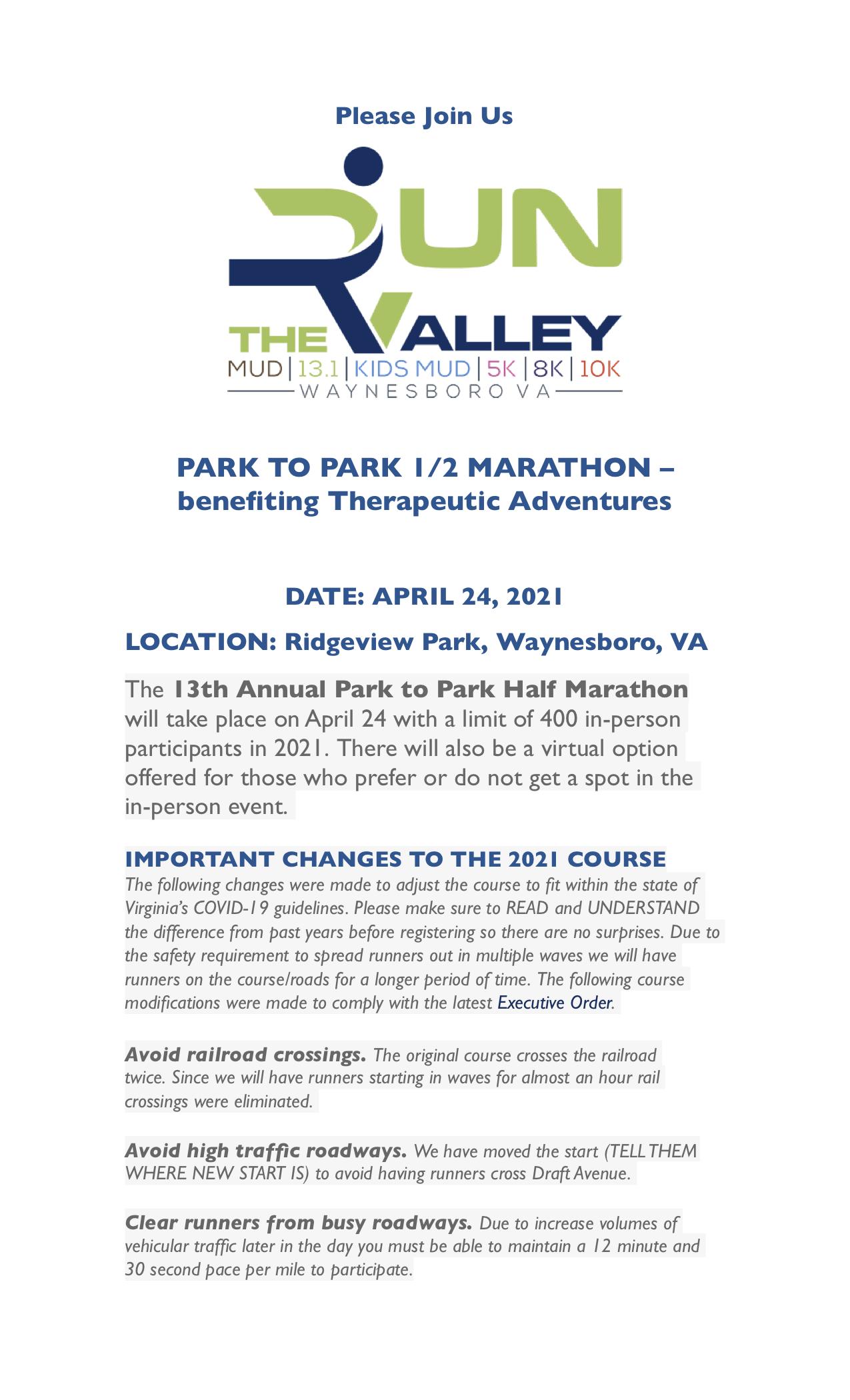 P2P 1/2 Marathon 2021
