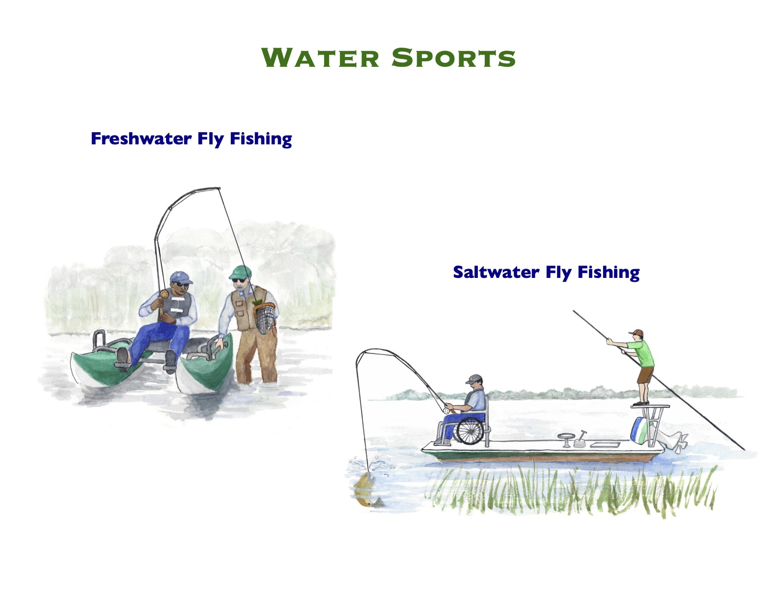 Watercolor Water Sports 4