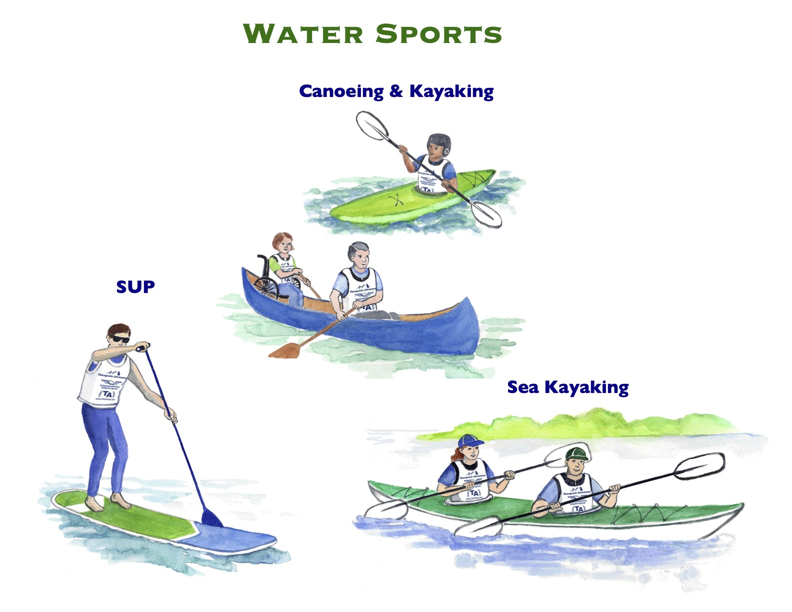 Watercolor Water Sports 5