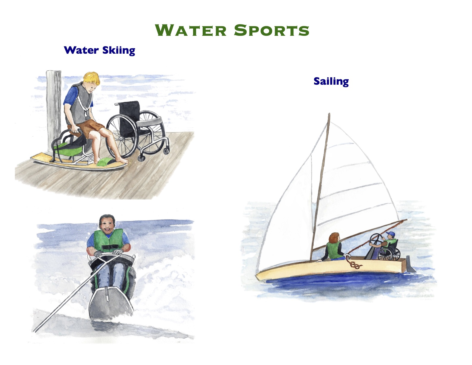 Watercolor Water Sports 6
